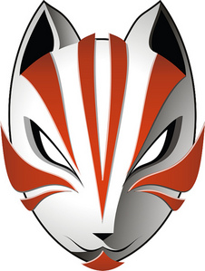 A kitsune mask, similar to the one she wears.