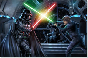 "Luke Skywalker and Anakin Skywalker are both powerful, despite the fact that the prophesy deemed Ani ""The Chosen One."""