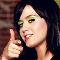 """Katy is very pretty, Blue eyes + Black hair = GORGEOUS!!!! :D""-DamianLUVR"