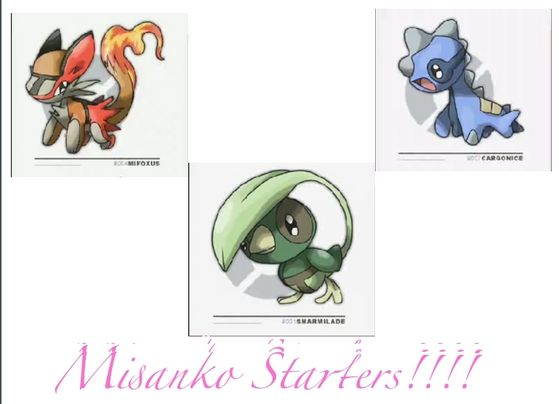 Misanko Region Starter Pokemon!