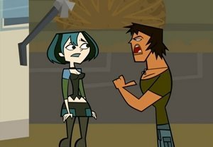 "Justin is the worst ""Total Drama"" bad guy ever. Gwen telling the team to vote off Trent would be easy if he didn't pressure her."