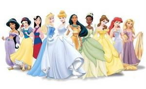 and we have the generic lineup of all of the disney Princesses