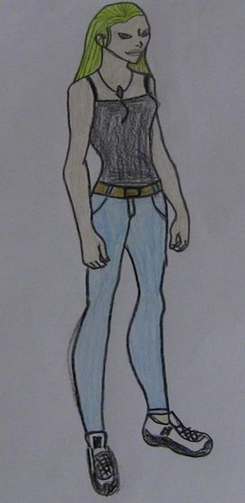 होल्ली, होली (aka Courage) in her Civilian clothes.