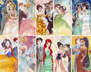 Disney Princesses Couples