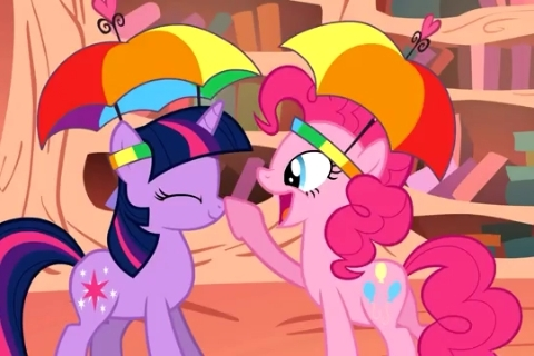 Twilight and Pinkie
