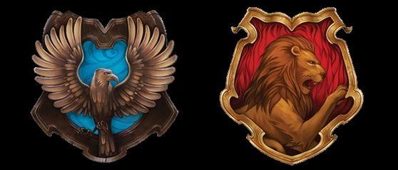 Gryffindor and Ravenclaw final crest