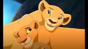 Simba's wife Nala, and their daughter Kiara.