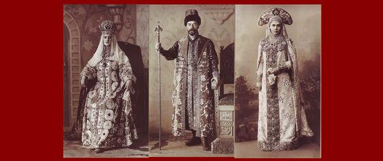 Alexandra (Anastasia's mother), the Tsar and his sister Xenia at the real ball