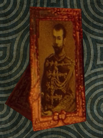 The real tsar picture that we can actually see at the beginning of the movie on the grand-mother desk.