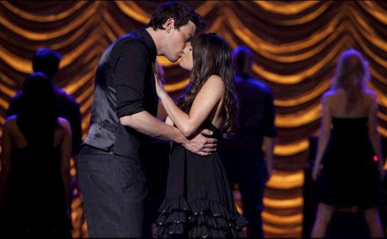 "Finn and Rachel in ""New York""."