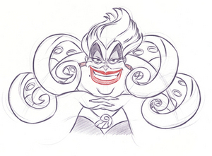 Tough, crass and jaded, Ursula is trying to find a way to get back from King Triton the power that once was hers.