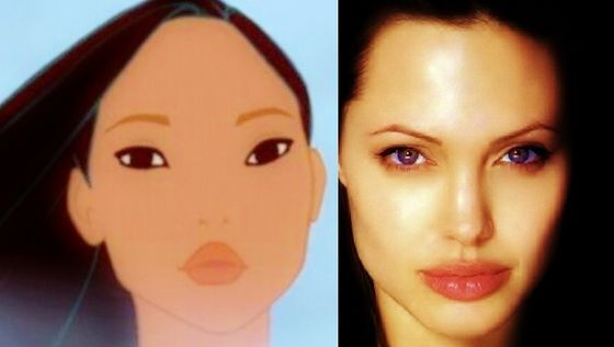 Angelina Jolie as Pocahontas