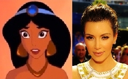 Kim Kardashian as jasmim