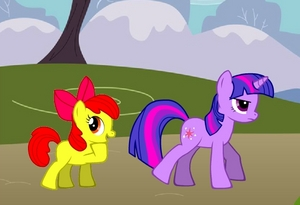 ~Applebloom asking Twilight questions~