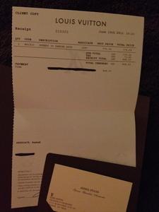 My original receipt of purchase in Bellevue, WA