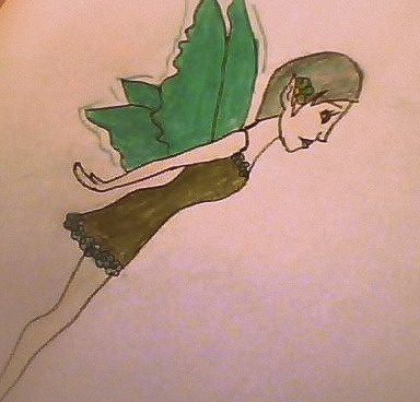 I love drawing fairies.