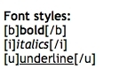 bold, italic, & underlined