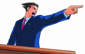 This epic lawyer always seems to be pointing his finger at someone, and that someone is usually guilty.