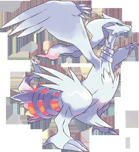 Reshiram flaring it's tail.
