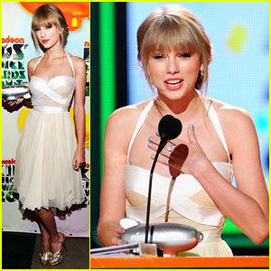 Taylor snel, swift At Kids Choice Award 2012