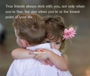 vrienden stick door u