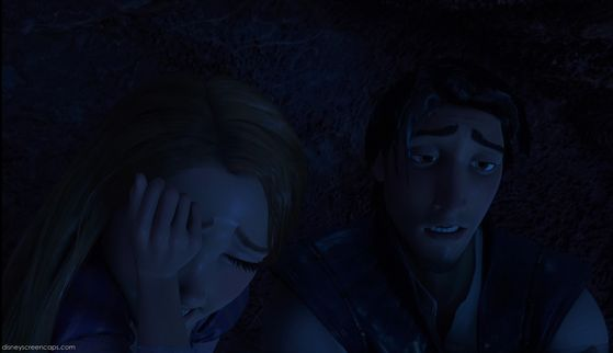 Rapunzel's sense of guilty of been trapped in the cave.