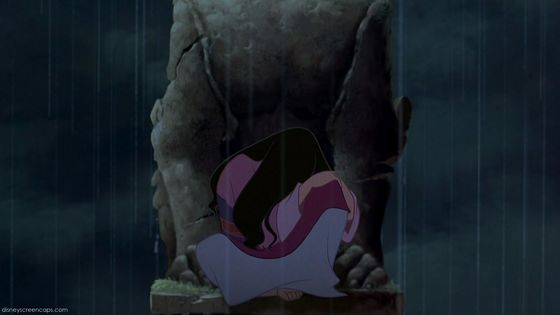 Mulan is sad because her father wants to go to the war