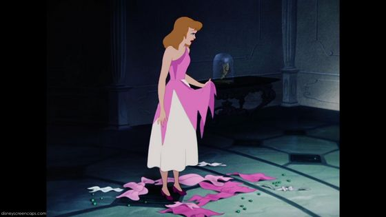 Cinderella's dress been destroyed