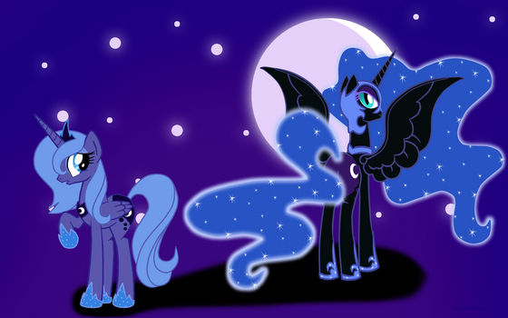 Luna and Nightmare Moon