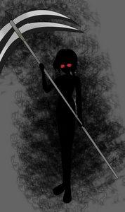 """My eyes glowing red, my body pitch black""."