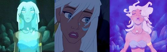 10: Kida, this girl is beautiful and its sad that most people don't agree. She's an awesome heroine she fights, speaks any language, and is the princess of Atlantis! She is awesome. In addition, she fell in amor with the nerd and that's so cute!