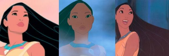 7: Pocahontas, I really amor her and her movie. She's a great role model and was able to bring peace between her tribe and the colonists. And of course she's very attractive long black hair, tan skin, big lips, and deep dark eyes.