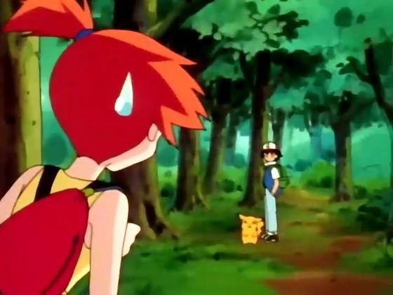 Misty, after Ash asks why she's following him