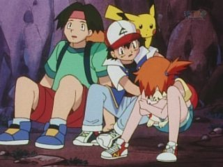 Ash helping Misty