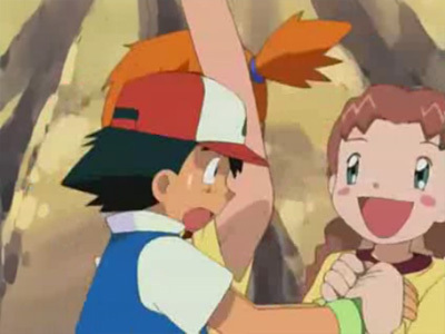 Misty about to cut between Ash and Macy