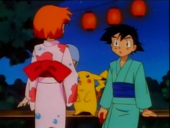Ash staring at Misty