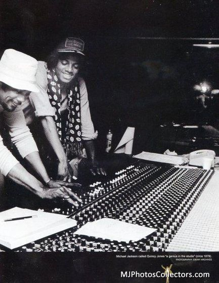 A picture hulst, holly took of Michael and Quincy at the studio
