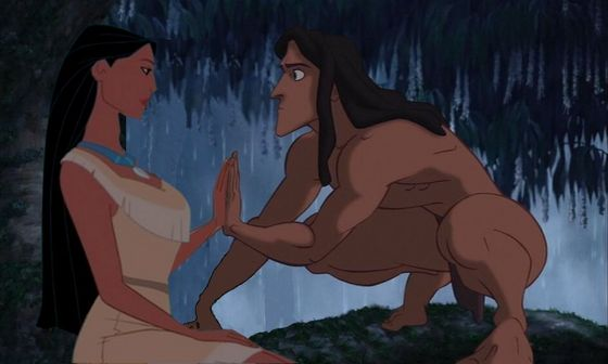5. Pocahontas x Tarzan. They seem like they would get along.