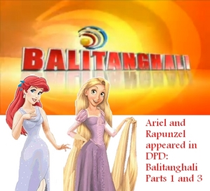 Ariel and Rapunzel appeared in Balitanghali Parts 1 and 3