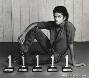 The picture Holly took of Michael with his awards