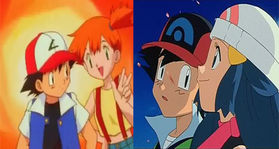 Pokeshipping (Ash & Misty) and Pearlshipping (Ash & Dawn)