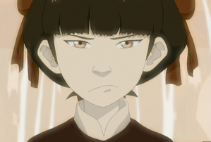 "Mai during Azula's お気に入り game, ""Set Mai's Hair On Fire"""