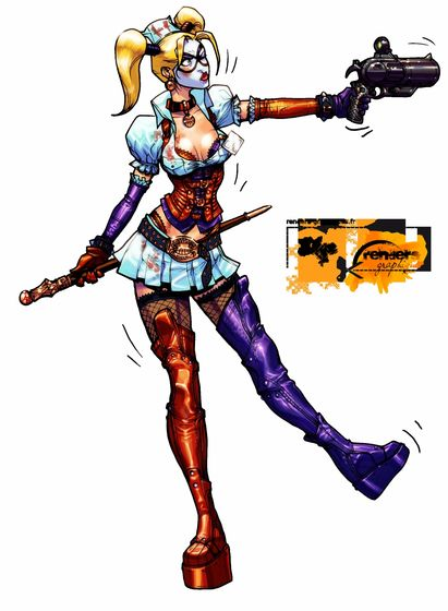 Blade's Harley Quinn Outfit (nurse's outfit)