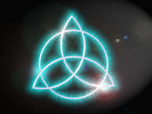 A holographic picture appeared in the air. It showed a symbol of three interlocking circles in the form of a triangle.