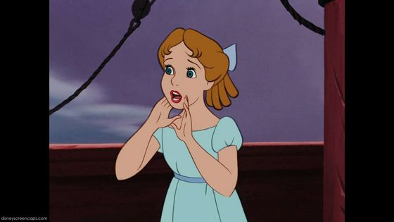 3. Wendy in distress (Peter Pan)