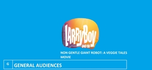 Movie Logo for 'Larry-Boy and the Non Gentle Giant Robot: A Veggie Tales Movie'