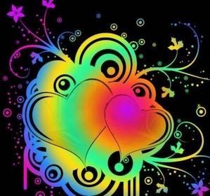 Double heart=love