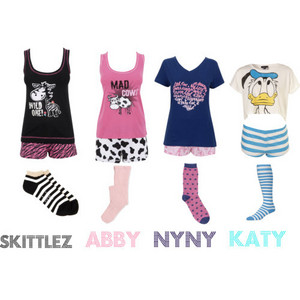1st mine 2nd Sis 3rd 4th Jazzy pjs