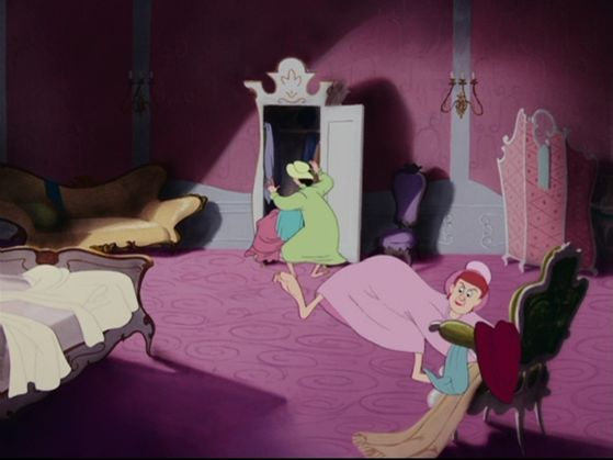 The stepsisters are in a hurry