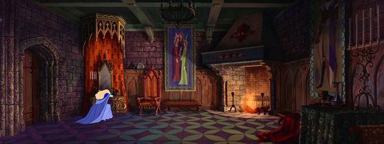 Aurora's large, stately princess bedroom
